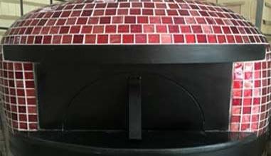 Pre built mosaic pizza oven